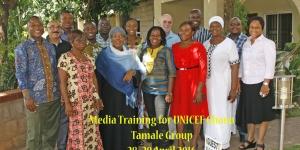 Media Skills for UNICEF Staff- Tamale- April 2016